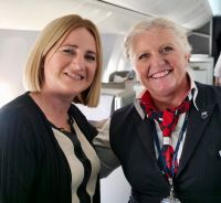 Tara Magee (British Airways) with Nicky from BA cabin crew