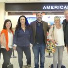 Paula Cross (Platinum Travel). Mairead Keegan (Click&Go;), Beverleigh and Lee (Bookabed) , Lee Osborne (Bookabed) Gillian Purser (Marble City Travel) and Don Shearer (Travelbiz) checked in with American Airlines in Tampa and heading for the American Airlines lounge.
