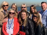 NYC & Company, Royal Caribbean International and United Airlines in New York with the six lucky winners of all three brands recent event and incentive to win a place on this amazing Fam