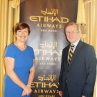 Beatrice Cosgrove (Country Manager Ireland Etihad) and Niall Gibbons (CEO Tourism Ireland)