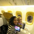 Simone and Sharon read to fly with Business class Emirates to Dubai