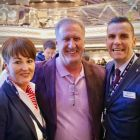 Don Shearer (Travelbiz.ie) with Suzanne Rowe and Steve Williams (MSC)
