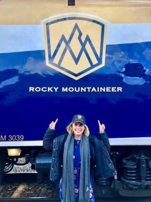 .Irish trade on the Rocky Mountaineer with Michelle (Travelmedia.ie)