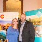 Claire Doherty (Chairperson Visit USA Committee) and Jeff Collins (MD Best4Travel)