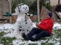 James and 'Snowbottles' wreck the gaff!