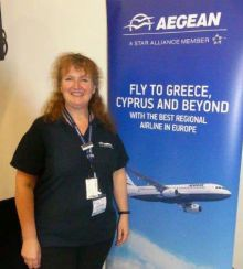Lynda Betsch (Aegean Country Manager UK & Ireland)