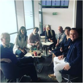 The press group at Dublin Airport