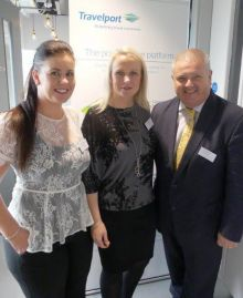 Joanne Madden, Sinead Reilly and David Taylor (all Travelport Ireland)
