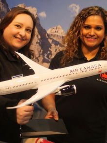 Blaithin and Bernadette make travelling with AIR Canada more fun.