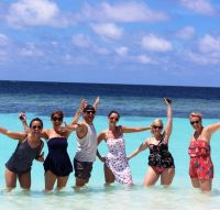 A splashing time - Angel Chua (Travelmood), Helen Hendley (Sunway), Onur Gul (Turkish Airlines), Lynne Keane (Travel Counsellors), Katarina Trinikova (J Barter Travel Cork) and Mandy Walsh (Travel Counsellors)