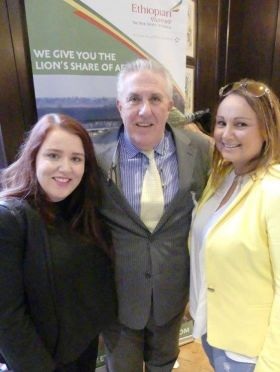 Tony Flynn (Sales Manager Ethiopian Airlines) and Travel Counsellors Karen Pugh and Annette Mc Cann