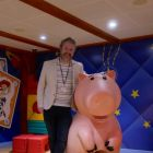 Hamming it up - Shane Cullen (TravelBiz Senior Reporter) in Andy's playroom