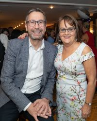 Cathy Burke (MD Ireland Travel Counsellors) with Steve Byrne (CEO Travel Counsellors)