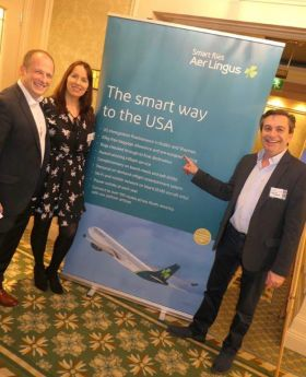 Ivan Beacom (Aer Lingus) with Isabel Harrison and Declan Power (Both Shannon Airport)