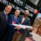 Onur Gull and Hasan Mutlu (Turkish Airlines) with Darrin des Vignes (ordan Tourism Board)