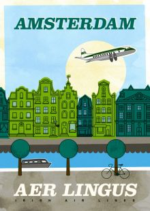 Aer Lingus poster promoting Amsterdam