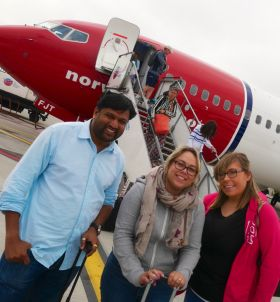 Pradeep Chandran (Tropical Sky), Deborah Heddles (American Holidays Belfast) and Lisa Geraghty (Tour America)