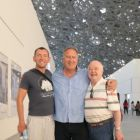The travel media at the Louvre in Abu Dhabi