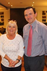 Jacinta Mc Glynn (Travelbiz) and Gerry Comaskey (Director Harcourt Developments)
