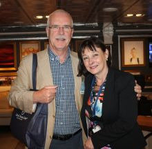 John Galligan (John Galligan Travel) and Carly Perkins (Holland America Line)