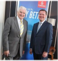 Gerry Benson with Enda Corneille (Country Manager Emirates Ireland)