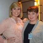 Michelle Ryan (TravelMedia) and Astrid Bell (American Holidays).