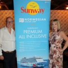 David Sanderson (BDM Scotland & Ireland NCL) with Deirdre Sweeney (Sunway Holidays)