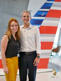 Caitriona Toner (American Airlines Country Sales Manager) and Chris DeGroot (VP International Sales at American Airlines)
