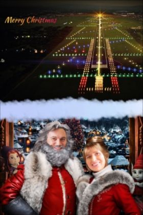 Shannon Airport lights up for Santa