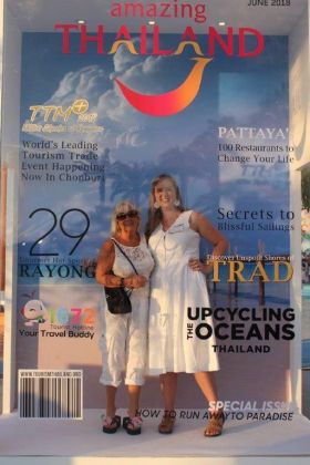 Jacinta Mc Glynn (Travelbiz) and Emma Arnott (TAT)
