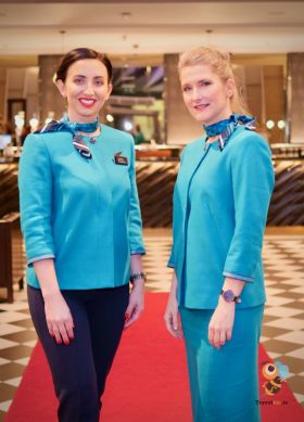 Kathryn and Corinne (Aer Lingus cabin crew)