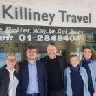Ranveig and Stephan (OBEO Travel) with the Killiney Travel team and some guy with a beard.