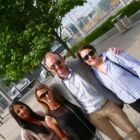 Alice Carrick and Eimear Martin (Tour America) with James Fleming (Sunway) and Emma Bunbury (eTravel)