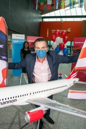 Declan Power (Shannon Airport) marks historic day for Shannon Airport and American Airlines