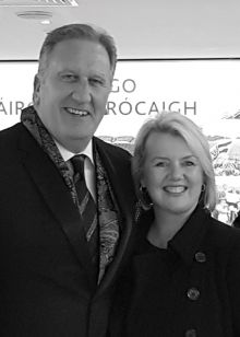 Don Shearer (MD and Publisher Travelbiz.ie) with Julie Murphy (Country Sales Manager UK &Ireland; ANA)