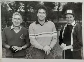 A great Travelbiz Memory. Tom Mannion with Don Shearer and Paddy O'Looney