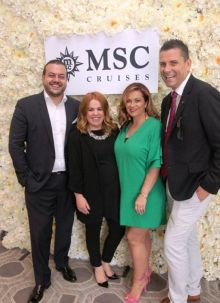 The MSC Dream Team: Antonio Paradiso, Rebecca Kelly, Erica Oglesby and Steve Williams