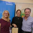 Ann Byrne with Trish O'Leary (Amadeus) and Jim Tobin (TIGS). Anne also won Nearest the pin!