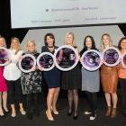 Mary McKenna wins business women of the year at the Inaugural 2017 Everywoman Travel Awards, also pictured is a TUI Ireland colleague Helen Caron