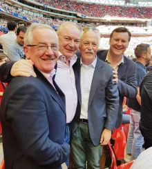 Enda Corneille (GM Emirates Ireland) with Pat Dawson (CEO ITAA), Dave O 'Grady (eTravel) and John Spollen (Cassidy Travel and ITAA President)