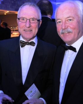 Bob is pictured with John Spollen at the ITAA Travel Industry Awards