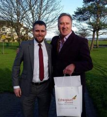 Lorcan Keegan (Ethiopian Sales Support) with Don Shearer (CEO Travelbiz)