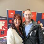 Toni Fennell (Abbey Travel) with Maurice Shiels (Topflight)