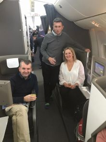 Dosomethingdifferent.com / Themeparkbeds.com & British Airways Trade Fam to Walt Disney World Orlando. John, Graham and Antoinette with Jamie in the overhead bin