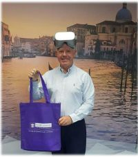Jonathan Howitt (Topflight) gets a goodie bag