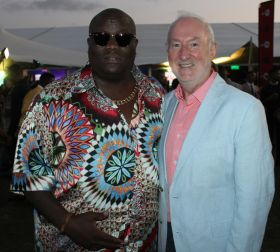 A local 'A list' celebrity with Declan Mescall (Features Editor Travelbiz)