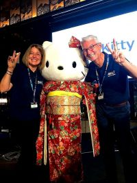 Hello Kitty - Alan & Nathalie (ANA) at the opening ceremony of ABTA conference held in Japan