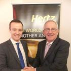 Jason Kearns (Hertz) with Pat Dawson (CEO ITAA).