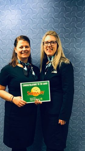 Congratulations Melissa and Sarah from TUI Savoy Cork