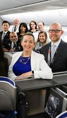 "Martina Coogan (United Country Manager Sales Ireland), ""Dublin is one of six transatlantic destinations that will be served with this new aircraft and we look forward to offering our customers greater comfort on board our most advanced plane."""